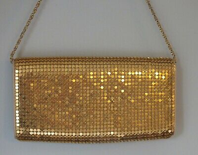 DENTS Gold HEAVILY Sequined Vintage EVENING/Cutch BAG with Chain.Stunning item