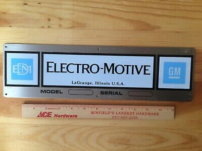 RARE NOS Unstamped EMD Electro Motive GM General Motors Locomotives Engine Plate