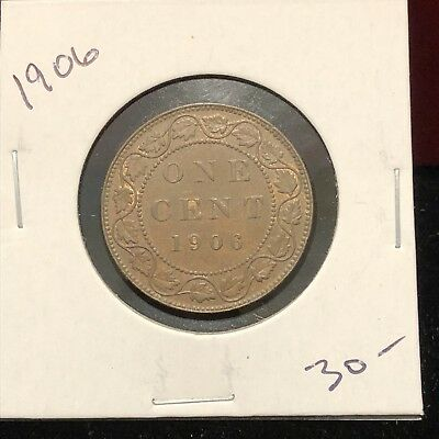 1906 Canada Copper Large Cent Canadian. Nice High Grade