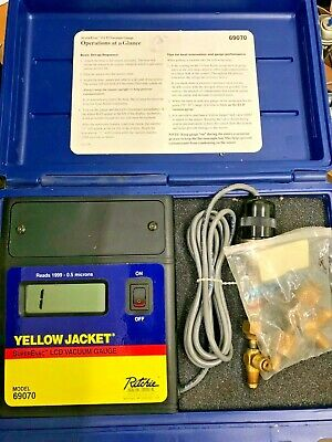 Ritchie Yellow Jacket 69070 SuperEvac LCD Full Range Vacuum Gauge Excellent Cond