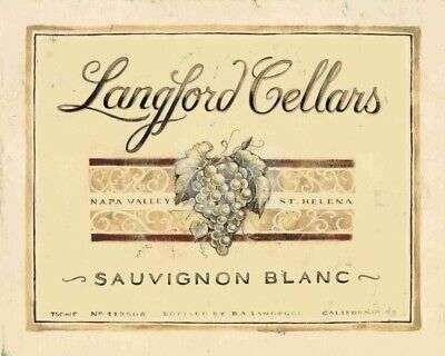Angela Staehlang Artwork Langford Cellars Sauvignon Blanc
