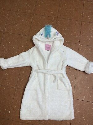 Girls Fluffy Unicorn Dressing Gown Age 9-10 Years