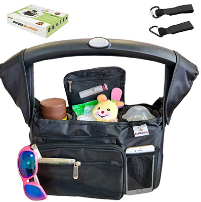 Baby Stroller Organizer with Insulated Stroller Cup Holder, Baby Organizer