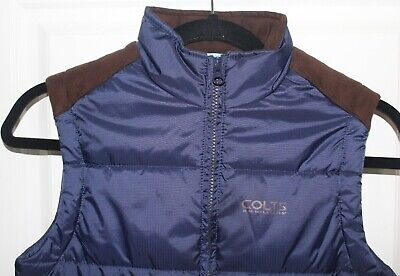 Kids R M Williams vest, Colts range, puffer, navy, Size 8, zip up
