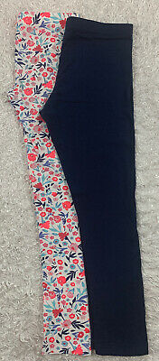 Crazy 8 /Wonder Nation Lot of 2 Pair Floral /Solid Leggings Pants Girls XL 14-16