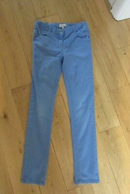 Girls Bright Blue Cotton Jeans/ Trousers. Age 10-11. Indigo For M&S.slim Fit.