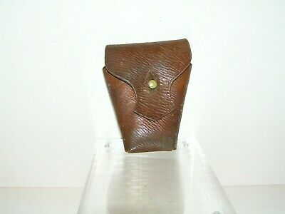 World  War  1  Leather  Ammo  Clip  Pouch  . Dated  W.a.  1916 . W.d Broad Arrow