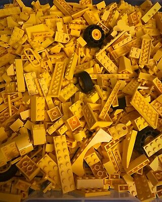Lego Huge 2 Pounds Lot Of Yellow Bulk Assorted Pieces Bricks Plates & More