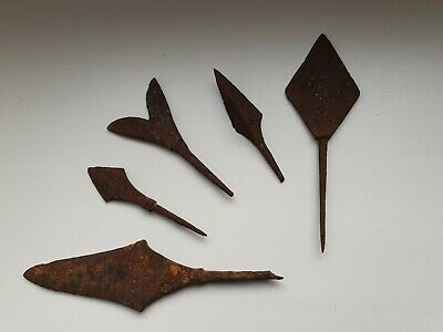 ANCIENT RARE Authentic Viking Iron Arrowheads ca 10 - 12 century AD