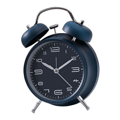 Metal Bell Alarm Clock Mechanical Analog Wind Up Clock Accurate Display A