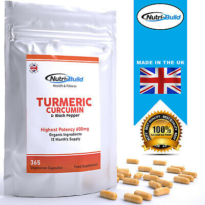 Turmeric and Black Pepper Capsules 600mg Natural Tumeric NOT TABLETS