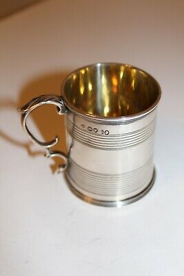 Antique Solid Silver Tankard by Charles Fox II. Hallmarked London 1837.