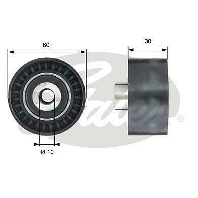 Deflection / Guide Pulley, timing belt 83050 For CITROËN C-Crosser Off-Road 2.2