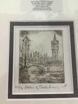 Original Hand etching by Dorothy Lloyd Griffiths - signed and sealed