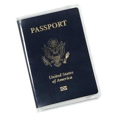 Clear Passport Cover Plastic Passport Protector Vinyl ID Card Protector Case