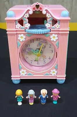 Bluebird WORKING 1991 Funtime Clock Polly Pocket COMPLETE vintage
