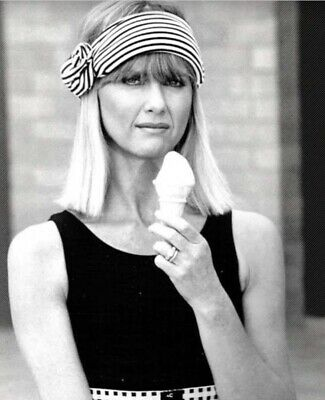 Olivia Newton John - I Don't Think She Likes Her Ice Cream Cone !!!