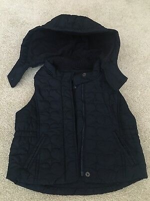 Gap Girls Gillet Age 4 Yrs, Navy With Hearts. PERFECT CONDITION