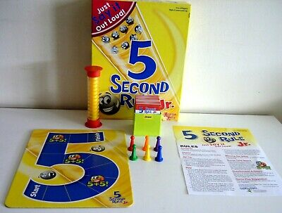 5 Second Rule Junior  Board Game - Just Say It Out Loud - Complete
