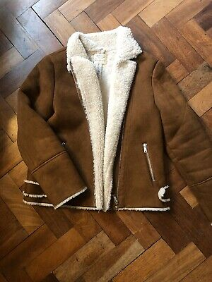 Girls Zara Faux Shearling Sheepskin Jacket 11-12