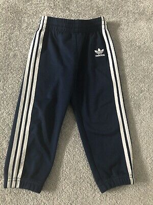 Adidas Trousers, Size 2-3 Years, Navy And White, Excellent Condition!