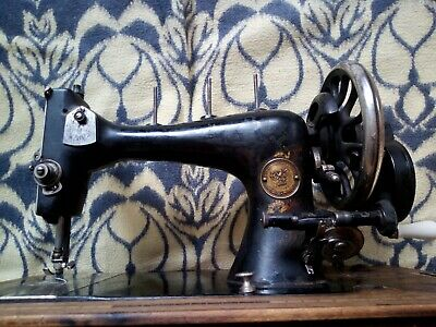 Vintage Clemens Muller Dresden VERITAS Antique Sewing Machine Collectible Unique