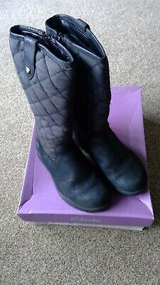 Clarks black leather and Gore-Tex Rhea Wish GTX boots, size 9.5 G