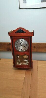 Vintage Polaris 15 Day Pendulum Wall Clock With Teak case And Key