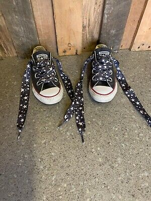 Boys Girls Infants Navy Low Top All Star Converse Trainers  Size Uk 12