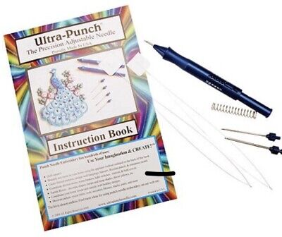 Ultra Punch Needle with extra Pack of Threaders, (total of 4 threaders).