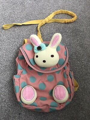 Toddler Girl 3D Animal Bunny Back Pack With Reigns