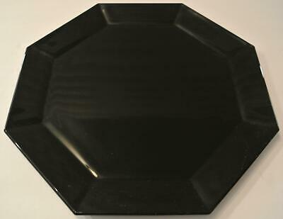 """Arcoroc OCTIME BLACK France 33 Glass Octagon Platter Serving Tray Plate 12.5"""""""