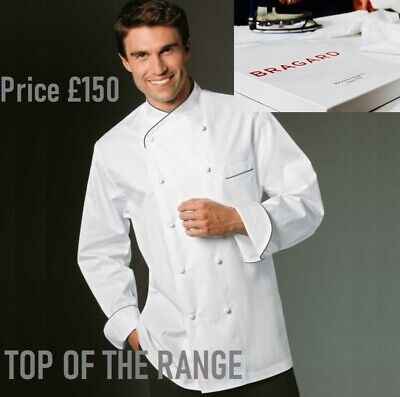 Bragard *Joel* Chef Jacket White Short Sleeve Deluxe Premium Uniform - Rrp £180