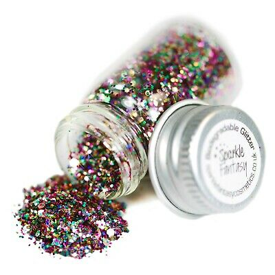 Stunning!Biodegradeable Glitter In Rainbow Sparkle! Comes In A Beautiful Box!