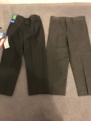 Boys M&S Grey School Trousers  2 Pairs Aged 3-4 Brand new with tags