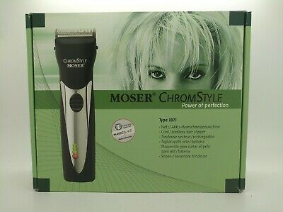 """NEW"" - MOSER Profiline Chromstyle - Cordless Hair Clipper - Made in Germany"