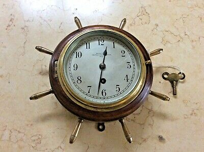 Ships Clock - London Maker Arthur Beale - Movement Just Restored - Perfect Order