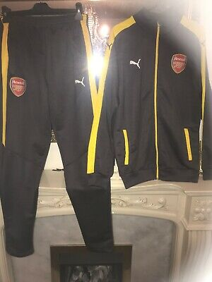 """ARSENAL FC PUMA TRACKSUIT SET size XL (MED to      LARGE TOP) (30 to 34"""" BOTTOMS"""