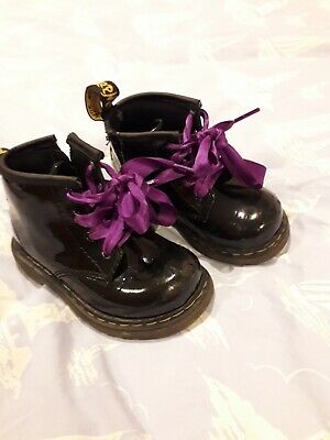 Dr Marten Infant Toddler Black Boots Doc Shoes UK Size 5 (girls)