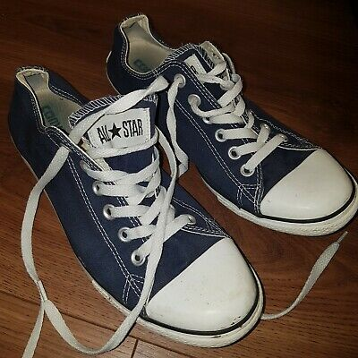 Converse All Star Ox Navy Classic Low Top Sneaker Trainers UK 7 Unisex
