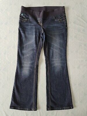 NEXT Maternity Size 14R Under Bump Dark Blue Jeans