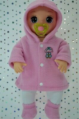 """Dolls Clothes For 17"""" Baby Alive Real As Can Be  PINK JACKET~TIGHTS~BOOTIES"""