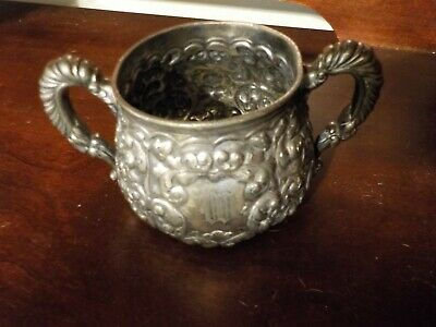 "Simpson Hall and Miller Co. Silver plated ""M"" engraved cup"