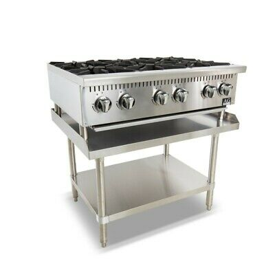 AG 6 Burner Stove Benchtop 91cm AG Equipment|