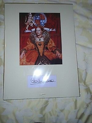 GLENDA JACKSON HAND signed 16 X 12 INCH - MARY QUEENS OF SCOTS MOUNTED PHOTO