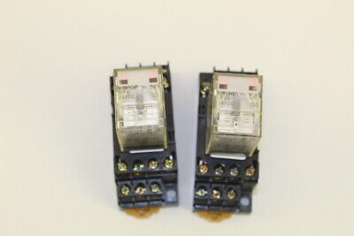 Omron MY4 Relay With Base DPDT (Lot of 9)