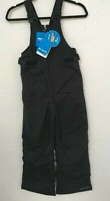 Columbia Big Girls' Snowslope II Bib Snow Sport Pant Black Size Medium NWT