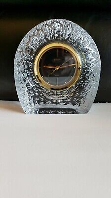 Bulova Crystal Table Mantle Clock7 inches Tall Working