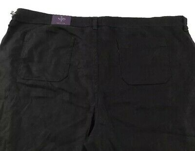 New NWT NYDJ Womens Pants Black Size 24W Cropped Trousers Stretch
