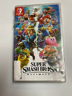 Replacement Case ONLY! Super Smash Bros Ultimate Nintendo Switch Box Original